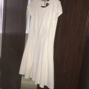 Taylor White fit and flare dress